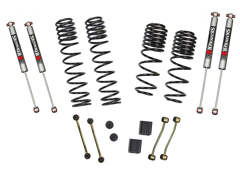 SkyJacker 2 to 2.50-Inch Dual Rate Long Travel Suspension Lift Kit with M95 Performance Shocks (18-20 Jeep Wrangler JL 4 Door, Excluding Rubicon)