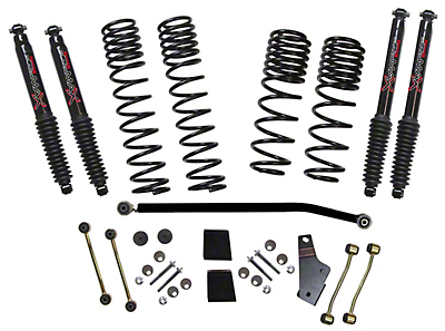 SkyJacker 3.5-4 in. Dual Rate-Long Travel Lift Kit w/ Black MAX Shocks (2018 Wrangler JL Rubicon 4 Door)