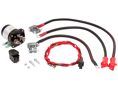 Rugged Ridge Dual Battery Relay Kit (87-18 Wrangler YJ, TJ, JK & JL)