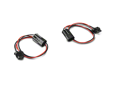 Barricade 18 in. Fog Light Extension Harness - Pair (07-18 Jeep Wrangler JK; 2018 Jeep Wrangler JL)