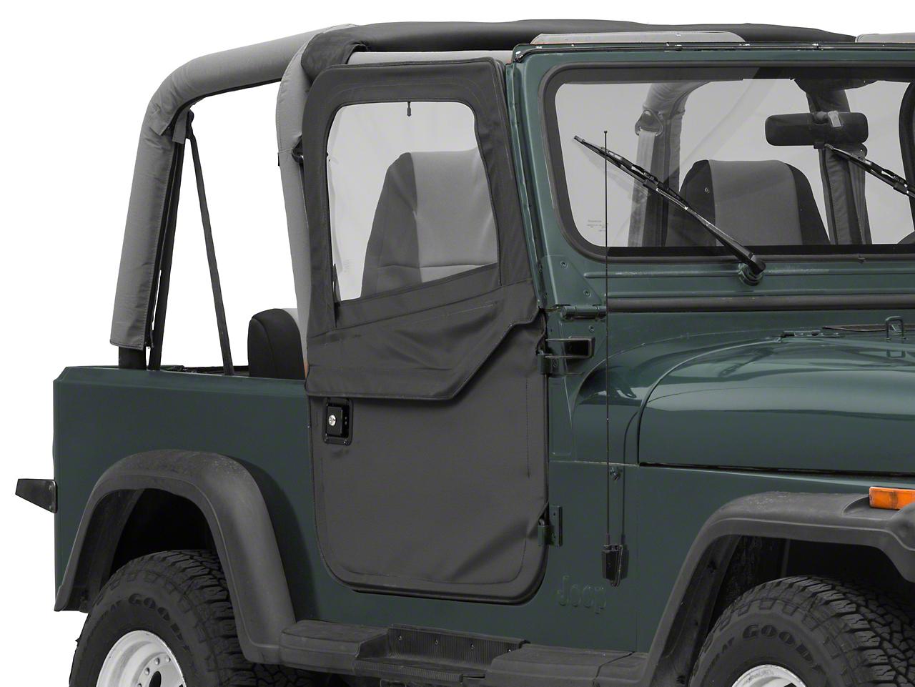 Bestop 2-Piece Full Fabric Doors - Black Denim (87-95 Jeep Wrangler YJ)