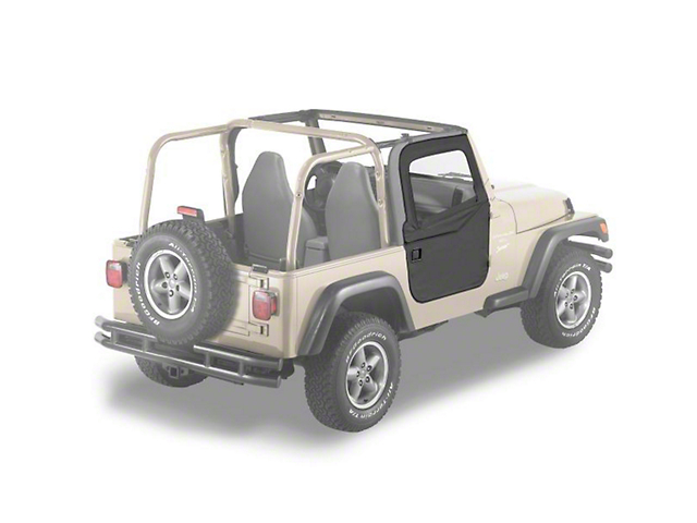 Bestop 2-Piece Full Fabric Doors - Black Diamond (97-06 Jeep Wrangler TJ)