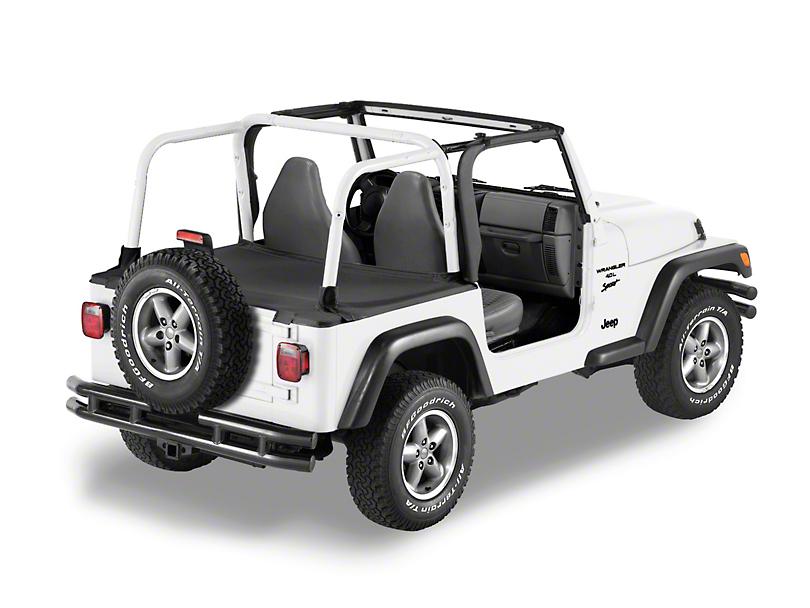 Bestop Duster Deck Cover - Black Denim (97-02 Jeep Wrangler TJ w/ Factory Hard Top)