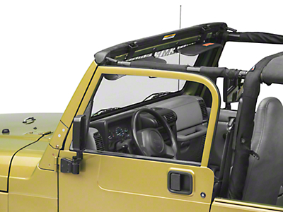 Bestop Factory Style Windshield Header Assembly (97-06 Jeep Wrangler TJ)