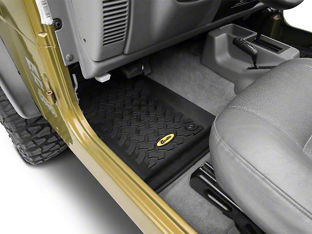 Bestop Front Floor Mats; Black (97-06 Jeep Wrangler TJ)