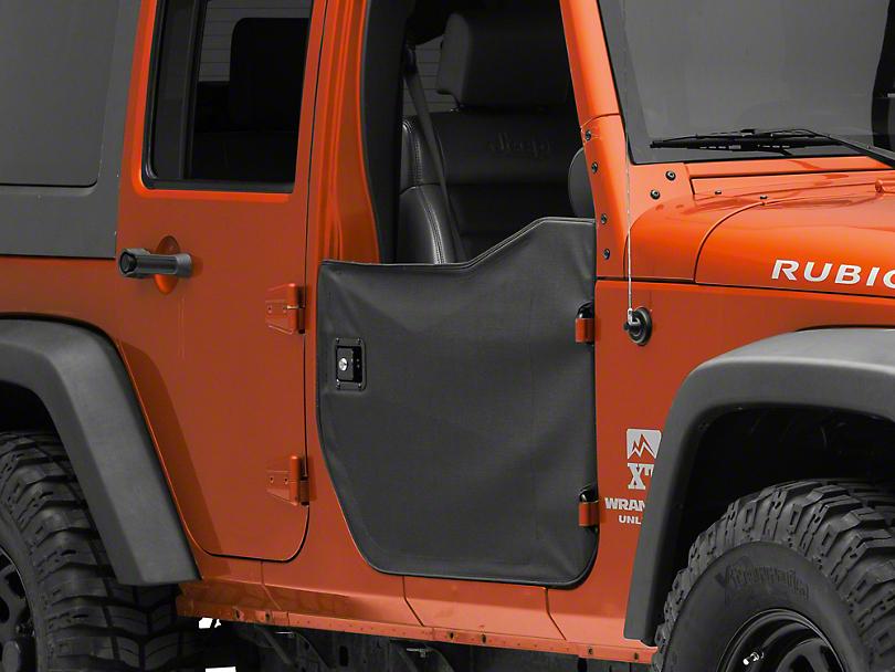 Bestop Front Half Doors - Black Diamond (07-18 Jeep Wrangler JK)