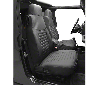 Bestop Front High-Back Seat Covers - Charcoal/Gray (87-95 Wrangler YJ)