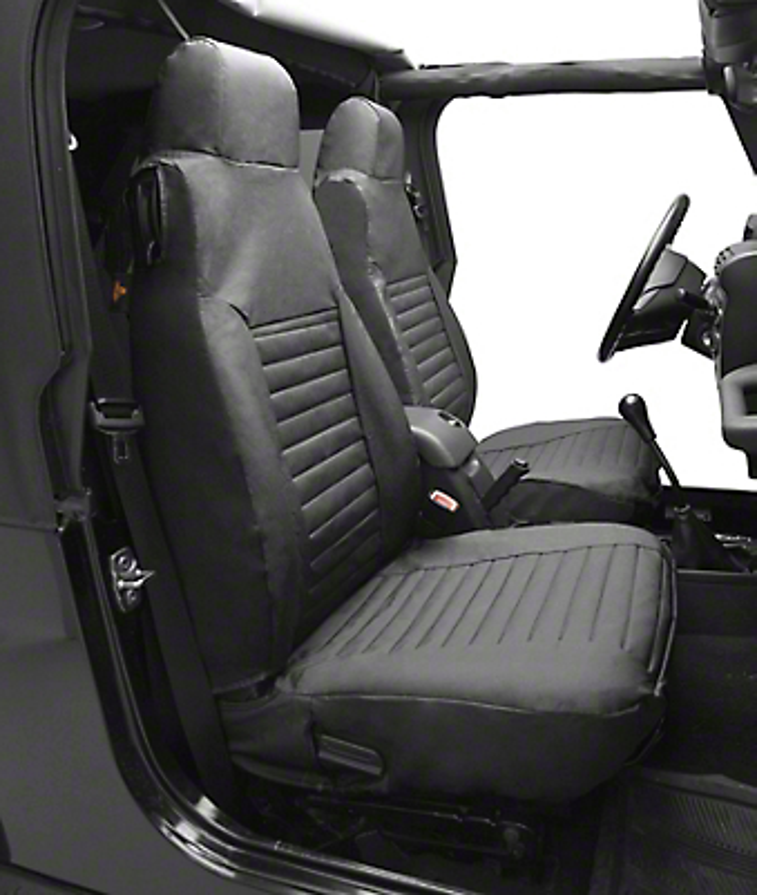 Bestop Front High-Back Seat Covers - Tan (87-90 Wrangler YJ)