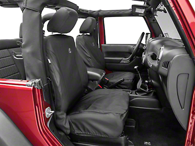 Bestop Front Seat Covers - Black Diamond (07-18 Jeep Wrangler JK)