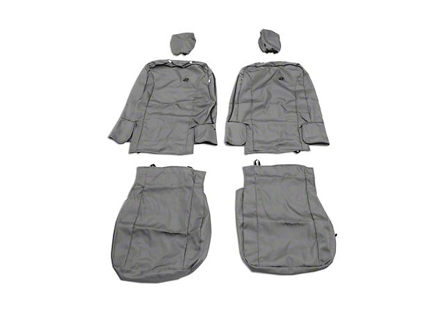 Bestop Front Seat Covers - Charcoal (07-18 Jeep Wrangler JK)