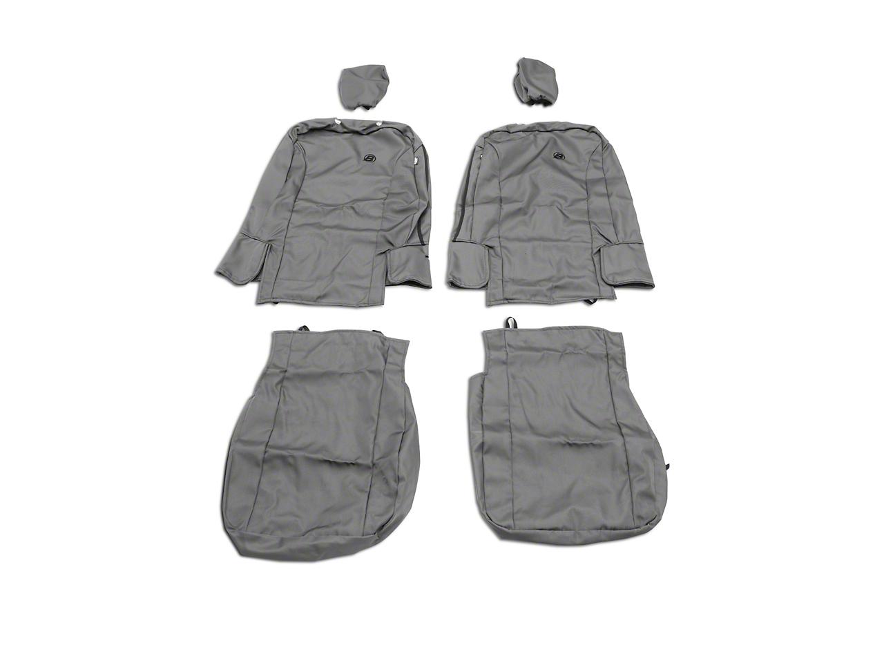 Bestop Front Seat Covers - Charcoal (07-18 Wrangler JK)