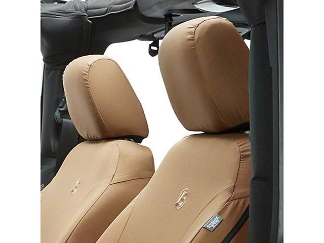 Bestop Front Seat Covers - Tan (07-18 Jeep Wrangler JK)