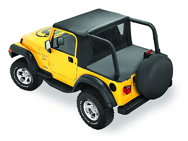 Bestop Halftop - Black Denim (97-02 Jeep Wrangler TJ w/ Factory Hard Top)