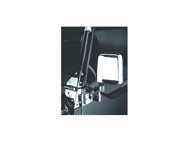 Rugged Ridge Replacement Half Door Mirrors Chrome (87-02 Wrangler YJ & TJ w/ Half Doors, 94-02 Wrangler YJ & TJ w/ Full Doors)