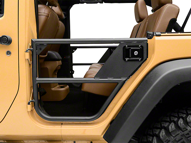 Bestop HighRock 4x4 Element Rear Doors; Textured Matte Black (07-18 Jeep Wrangler JK 4 Door)