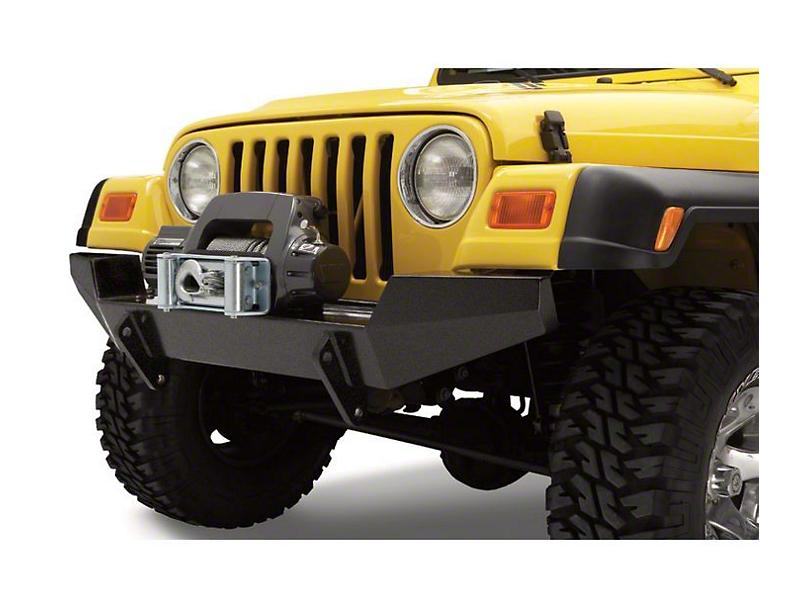 Bestop HighRock 4x4 Full Width Front Bumper - Matte Black (97-06 Jeep Wrangler TJ)