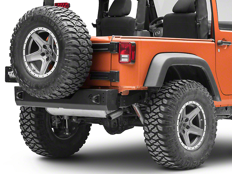 Bestop HighRock 4x4 Modular Rear Bumper - Matte Black (07-18 Jeep Wrangler JK)