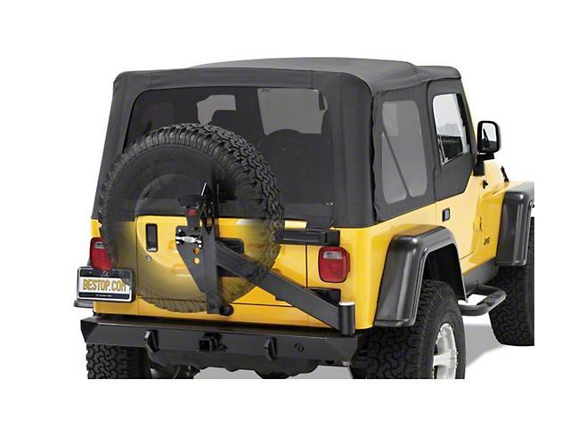 Bestop HighRock 4x4 Rear Bumper w/ Tire Carrier - Matte Black (97-06 Jeep Wrangler TJ)