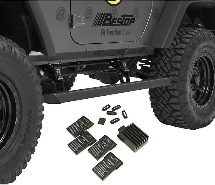 Bestop Powerboard NX Automatic Running Boards (07-18 Jeep Wrangler JK 2 Door)