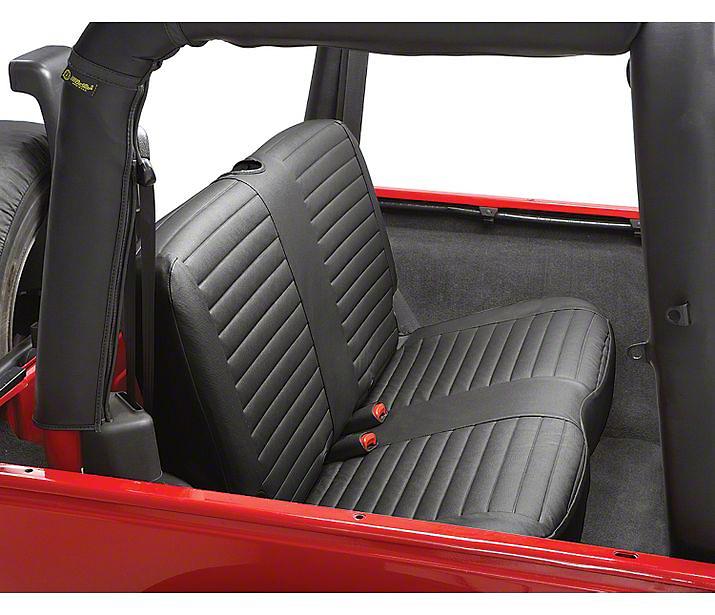 Bestop Rear Bench Seat Cover - Black Denim (97-02 Wrangler TJ)