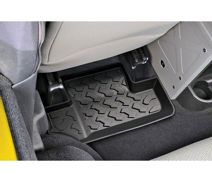 Bestop Rear Floor Mats - Black (07-18 Jeep Wrangler JK 4 Door)