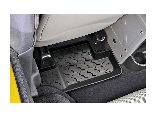 Bestop Rear Floor Mats - Black (07-18 Jeep Wrangler JK)