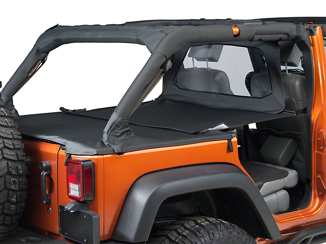 Bestop Duster Deck Cover Extension; Black (07-18 Jeep Wrangler JK 4 Door)