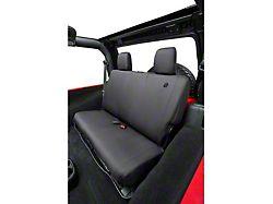 Bestop Rear Seat Cover; Black Diamond (2007, 13-18 Jeep Wrangler JK 4 Door)