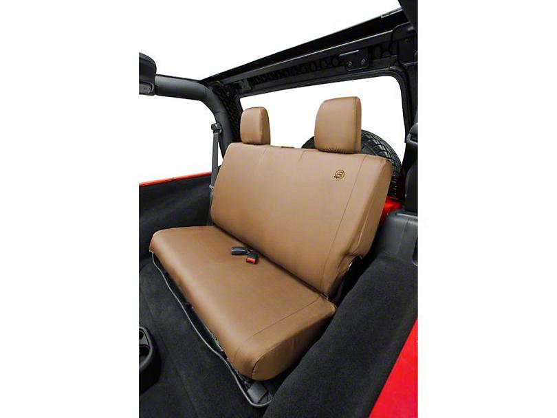 Bestop Rear Seat Cover; Tan (07-18 Jeep Wrangler JK)