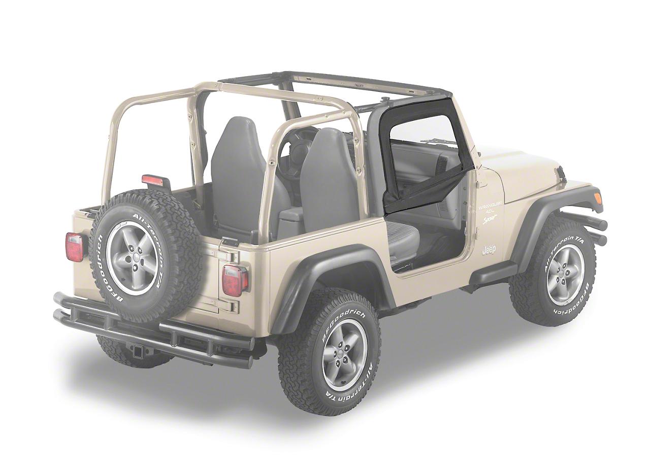 Bestop Soft Upper Half Doors - Black Denim (97-06 Jeep Wrangler TJ)