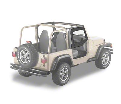 Bestop Soft Upper Half Doors - Black Diamond (97-06 Wrangler TJ)