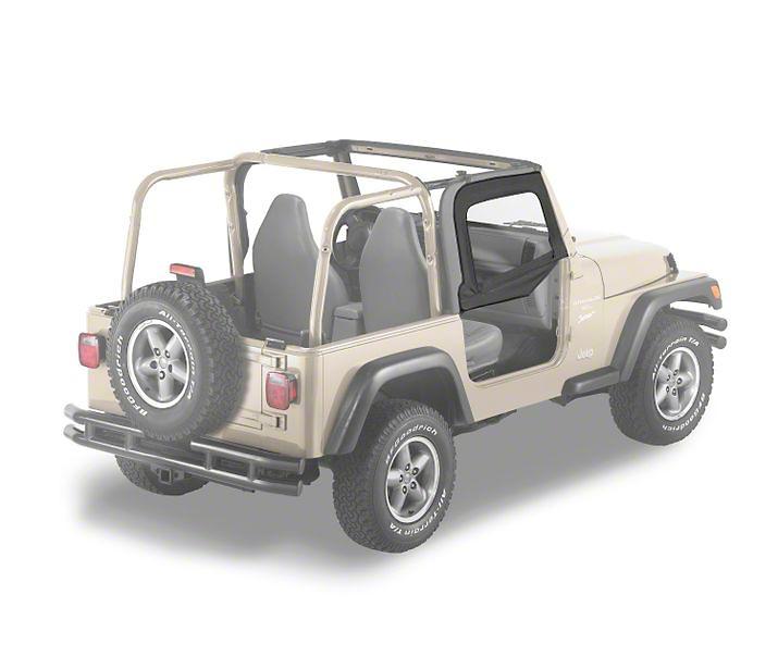Bestop Soft Upper Half Doors - Black Diamond (97-06 Jeep Wrangler TJ)