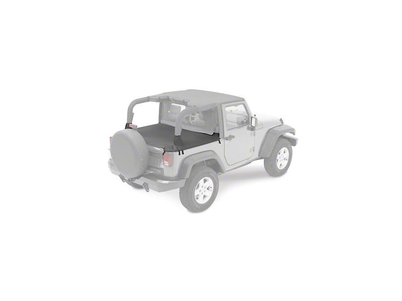 Bestop Duster Deck Cover - Black (07-18 Jeep Wrangler JK 2 Door)