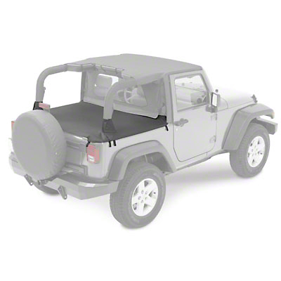 Bestop Duster Deck Cover - Black (07-17 Wrangler JK 2 Door)