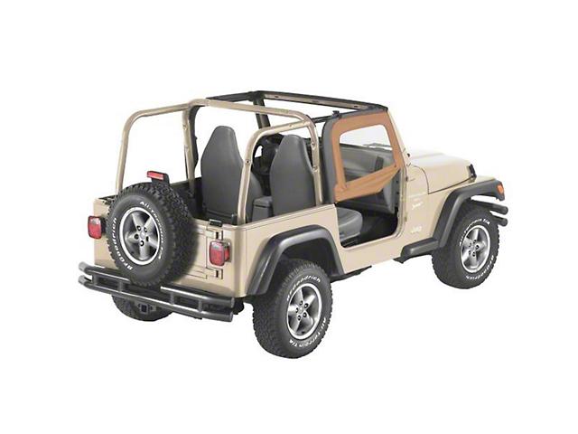Bestop Soft Upper Half Doors - Spice (97-06 Jeep Wrangler TJ)