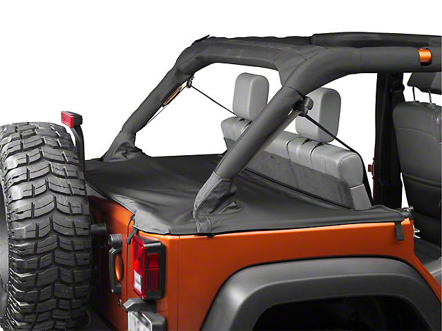 Bestop Duster Deck Cover - Black (07-18 Wrangler JK 4 Door)