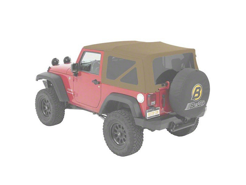 Bestop Supertop NX Soft Top - Beige Twill (07-18 Jeep Wrangler JK 2 Door)