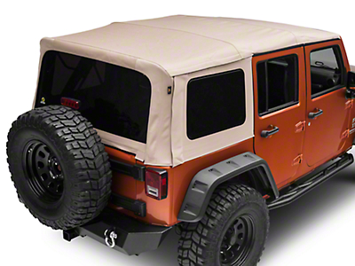 Bestop Supertop NX Soft Top - Beige Twill (07-18 Wrangler JK 4 Door)