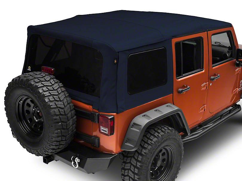 Bestop Supertop NX Soft Top - Blue Twill (07-18 Jeep Wrangler JK 4 Door)