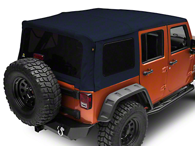 Bestop Supertop NX Soft Top - Blue Twill (07-18 Wrangler JK 4 Door)