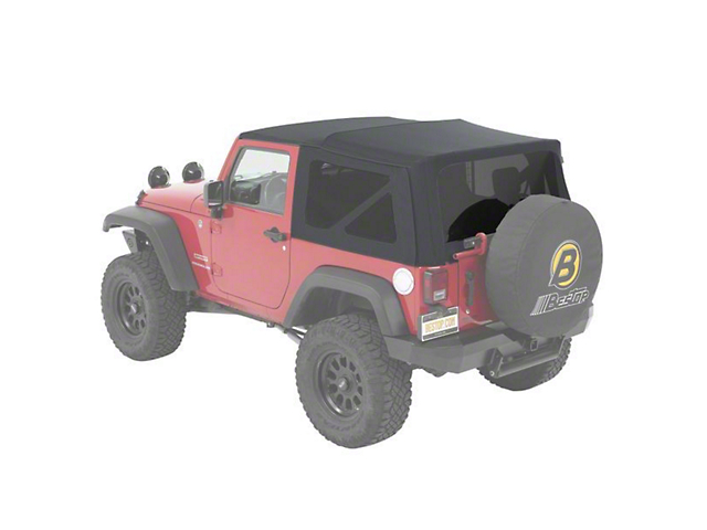Bestop Supertop NX Soft Top - Gray Twill (07-18 Jeep Wrangler JK 2 Door)