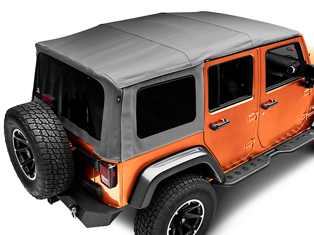 Bestop Supertop NX Soft Top - Gray Twill (07-18 Jeep Wrangler JK 4 Door)