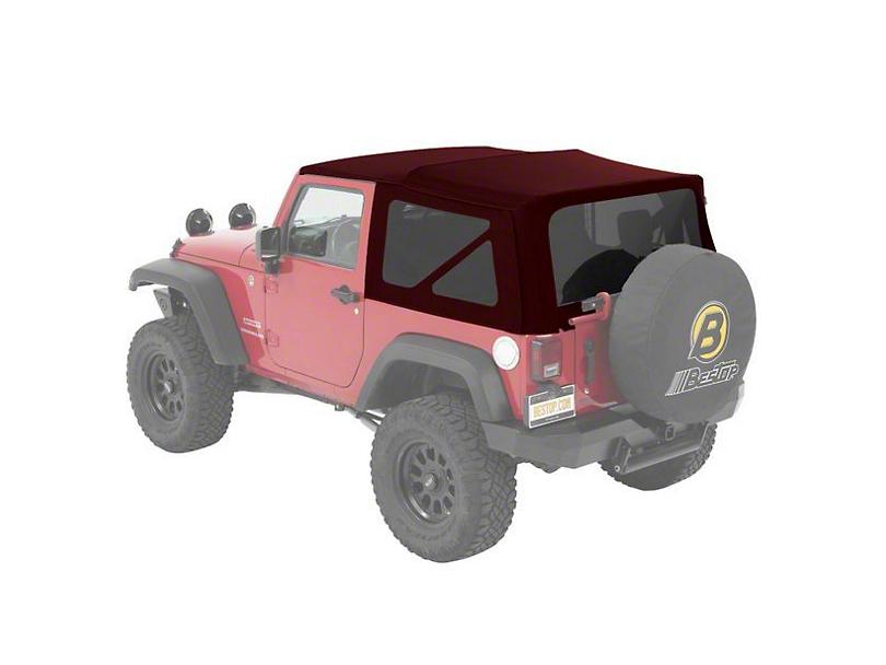 Bestop Supertop NX Soft Top - Red Twill (07-18 Jeep Wrangler JK 2 Door)