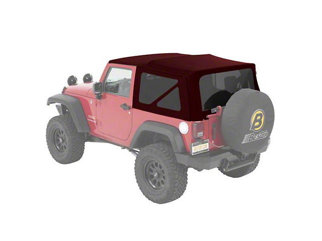 Bestop Supertop NX Soft Top; Red Twill (07-18 Jeep Wrangler JK 2 Door)