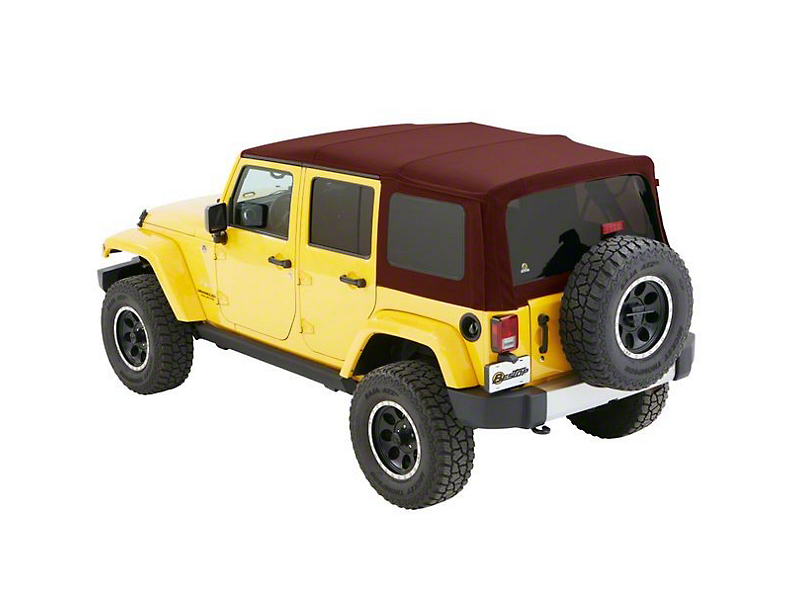 Bestop Supertop NX Soft Top - Red Twill (07-18 Jeep Wrangler JK 4 Door)