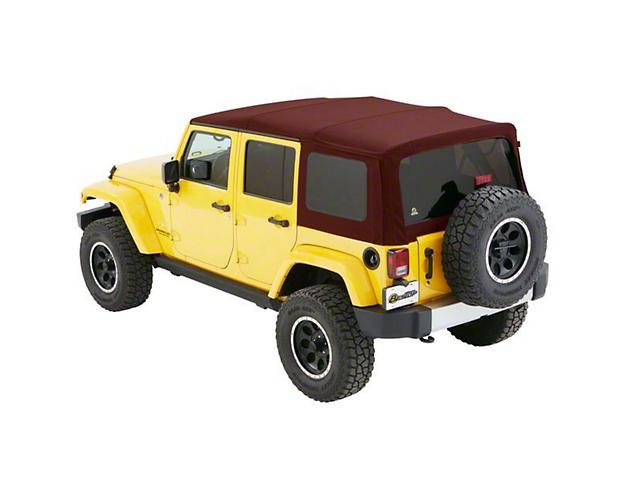 Bestop Supertop NX Soft Top - Red Twill (07-18 Jeep Wrangler JK 4 Door)
