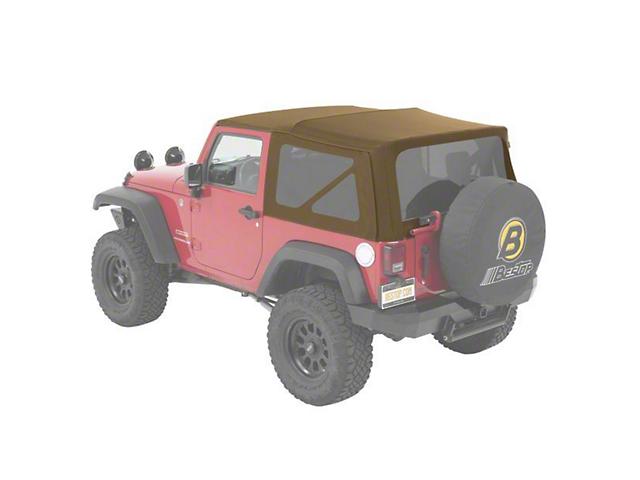 Bestop Supertop NX Soft Top - Tan Twill (07-18 Jeep Wrangler JK 2 Door)