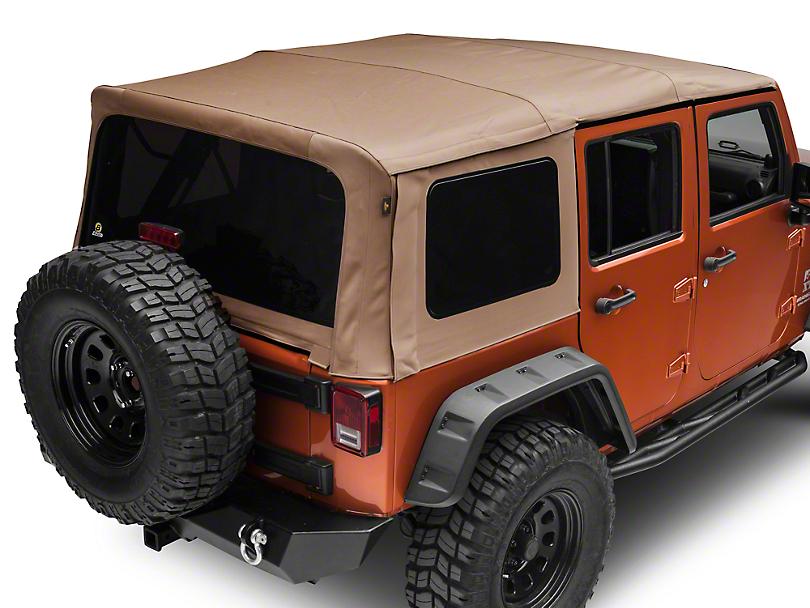 Bestop Supertop NX Soft Top - Tan Twill (07-18 Jeep Wrangler JK 4 Door)