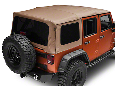 Bestop Supertop NX Soft Top - Tan Twill (07-18 Wrangler JK 4 Door)