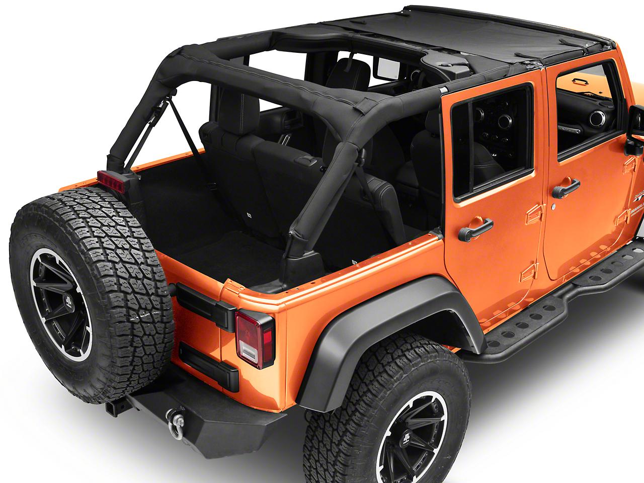 Bestop Targa Style Sun Bikini Top - Black Diamond (07-18 Jeep Wrangler JK)